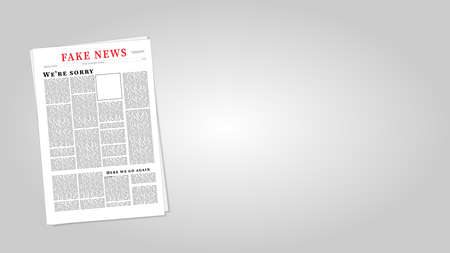 Fake News Newspaper Eps10 Vector Illustration. Fake News Template. Illustration