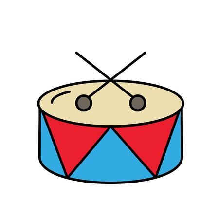 Circus drum glyph icon isolated on white background. EPS10  イラスト・ベクター素材