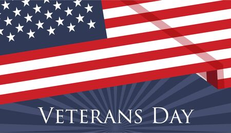 Veterans Day holiday banner for the National celebration on the 11th of November