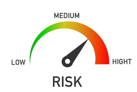 Risk Level Measure Meter From Low to High. Vector illustrator
