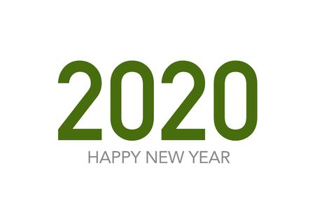 Happy 2020 new year insta color banner in white background for your seasonal holidays flyers, Christmas themed congratulations and cards. Vector illustration.