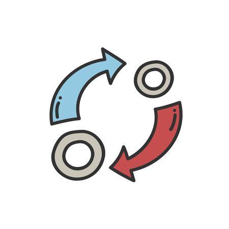 Reinvestment interest thin line icon. Ilustrace