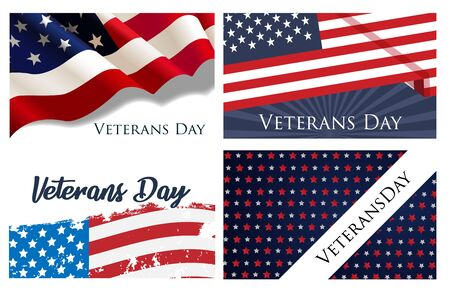 Set of brochure, poster templates in veterans day style. Beautiful design and layout. Veterans Day Imagens - 133803133