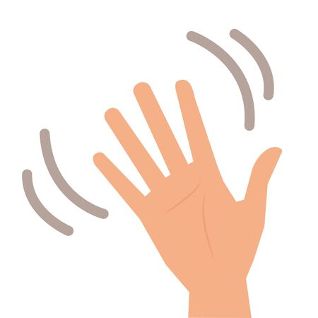 Isolated vector illustration of waving Hand for your web site mobile app