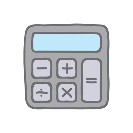 Calculator icon vector. Savings sign isolated on white, economy concept, Trendy Flat style for graphic design, Web site, UI. Illustration