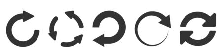 Refresh icon set isolated on white. Vector illustration EPS10 Illusztráció