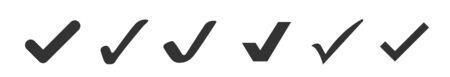 Conjunto de iconos de marca de verificación aislado sobre fondo blanco. Ilustración vectorial