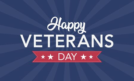 Veterans Day celebration illustration. HD background banner. Remember and honor. Vector illustration