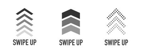 Swipe up icon set isolated for stories design blogger. Swipe up icons set for social media. Vector illustration