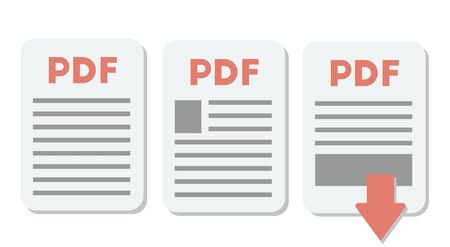 PDF document icon Set. Vector file format symbol. Eps 10 Ilustracja