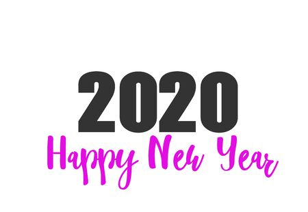 Happy new year 2020 design template. Design for calendar, greeting cards or print. Vector illustration
