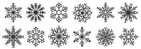 Great design holiday snowflakes isolate on blue background.