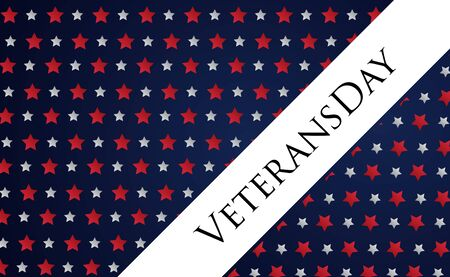 Veterans Day holiday banner with US flag on the background. Vector illustration Illusztráció