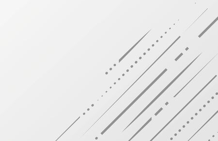 Abstract white and gray color lines background. Vector illustration