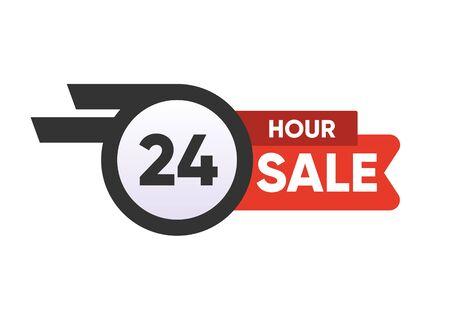 24 hour sale symbol stamps. Store last super sale stamp. Vector illustration