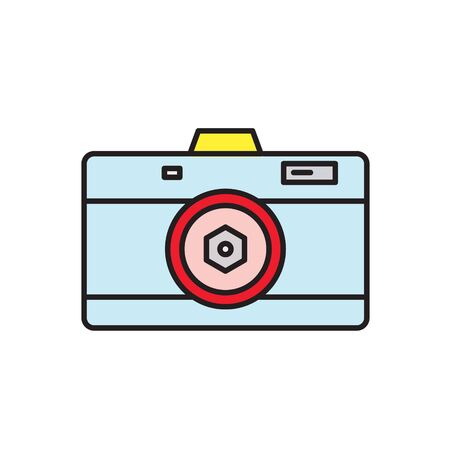 Fancy colors camera glyph icon isolated on white. Vector Illustration