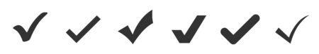 Check mark icons set isolated on white background. Vector illustration eps10