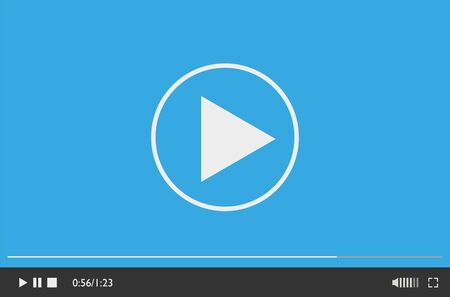 Modern video player design template for web and mobile apps flat style.
