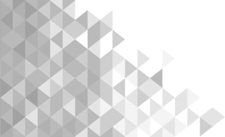 White and gray background. Geometric style. Mesh of triangles. Mosaic template for your design. Vector illustration.
