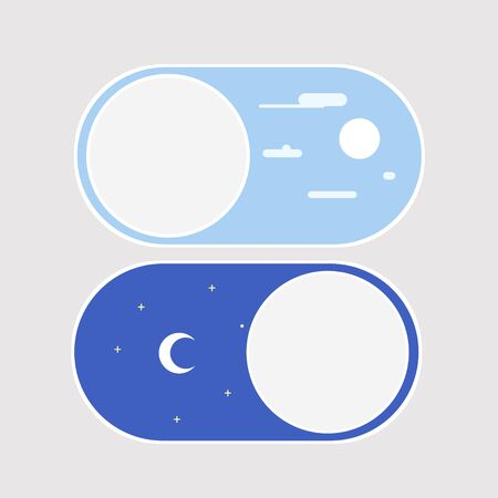 Light and dark mode, day and night mode, moon and sun icon for mobile phone or computer editable.