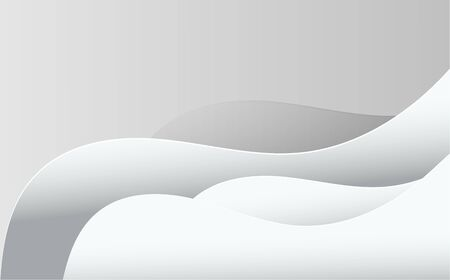 Abstract wavy vector illustration in gray color. Dynamic motion web background with waves and lines. Ilustração