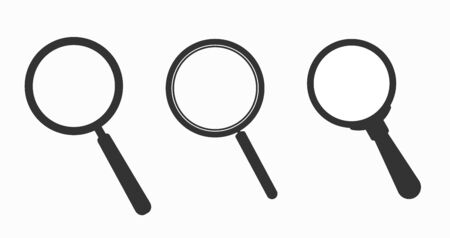 Set of magnifying glass icons. Magnifier sign loop set. Search icon Concept for finding people to work.