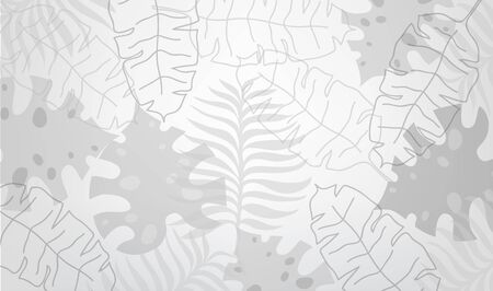 Graphic plant palm leaf tropic. Print black and white background style, exotic floral jungle.