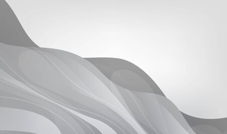 Abstract wavy gray color illustration. Dynamic motion web background with waves