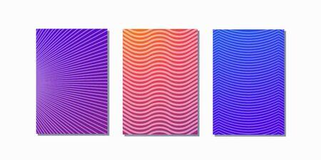 Minimal covers design. Colorful halftone gradients. Future geometric patterns.  イラスト・ベクター素材