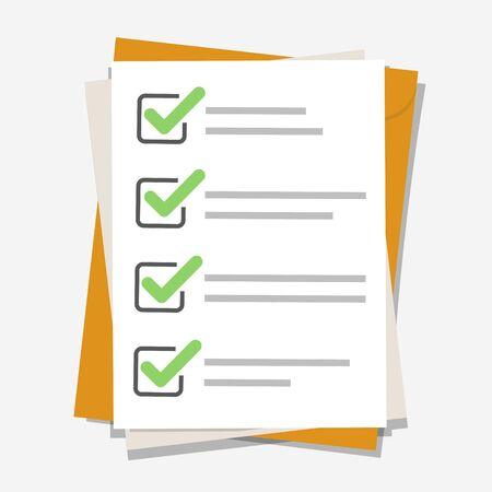 Checklist, complete tasks, to-do list, exam concepts. Premium quality. Modern flat design graphic elements.