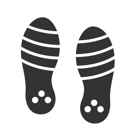Footwear black print isolated on white background