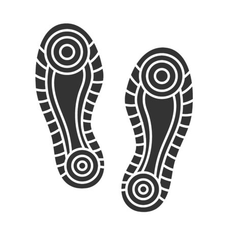 Sport Footwear black print isolated on white.  イラスト・ベクター素材