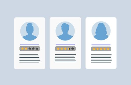 Personal info data. User or profile card details symbol, identity document with person photo and text.  イラスト・ベクター素材