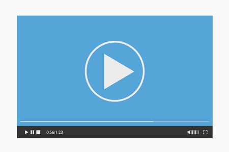 Modern video player design template for mobile apps flat style.  イラスト・ベクター素材