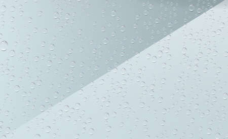 Raindrops on transparent background. Water drops on the window. 写真素材
