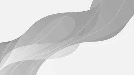 Abstract wavy gray color illustration. Dynamic web background with waves