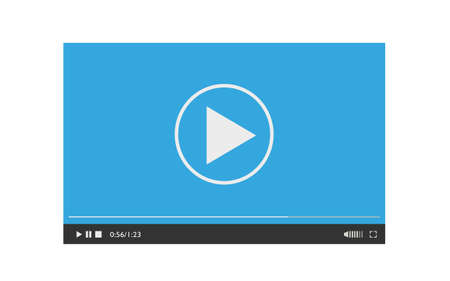Media player design template for web and mobile apps flat style.