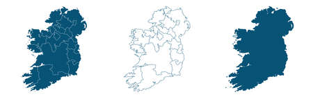Vector map Ireland country on white background.