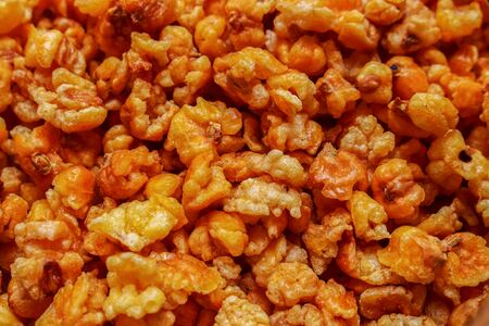 Abstract background Close up Fried Snack Made From Corn Texture