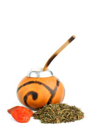 Argentinian Yerba Mate tea attributes - calabash and bombilla
