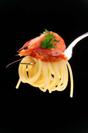 dieta: spaghetti with  Stock Photo