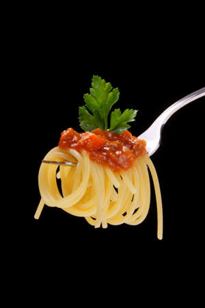 dieta: spaghetti bolognese Stock Photo