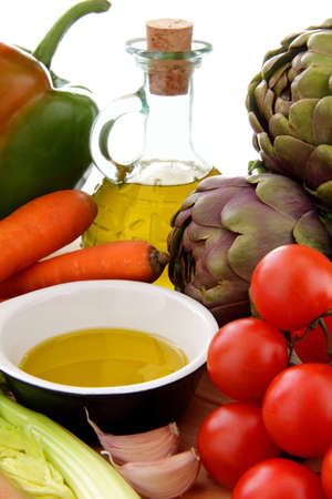 vegetables whit olive oil photo