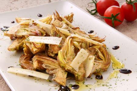 artichokes salad whit parmigiano
