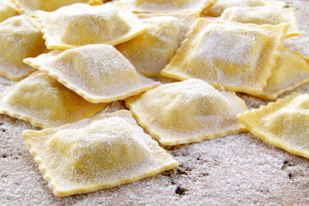 ravioli: ravioli whit ricotta cheese Stock Photo