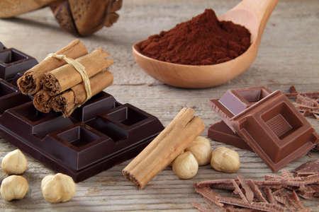chocolate cocoa and cinnamon