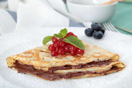 crepe with nutella on flat