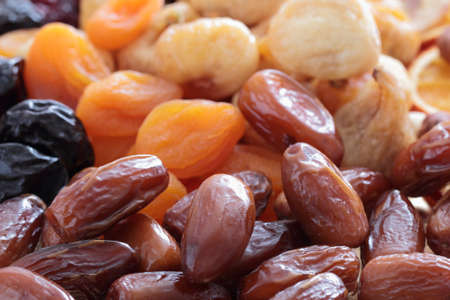 Mixed dried fruits dates figs apricots