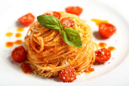 italian pasta spaghetti with tomato sauce  Foto de archivo