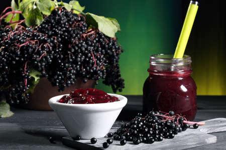 elderberry jam and berries